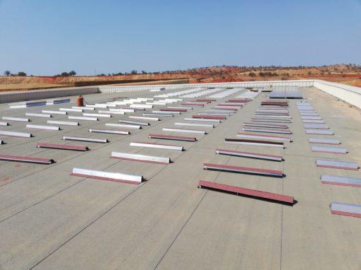 Almaden-Morocco-Al-Hoceima-fixation-panneau-solaire-photovoltaique-toiture-usine-bitume