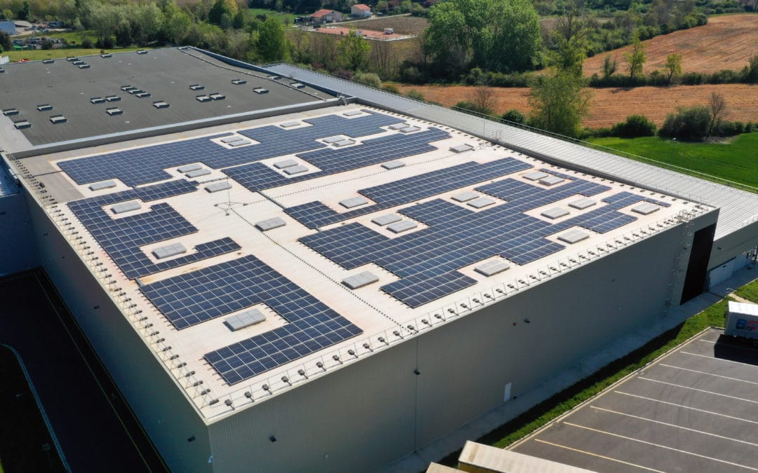 Photovoltaic roof of the Coca-Cola factory south of Toulouse