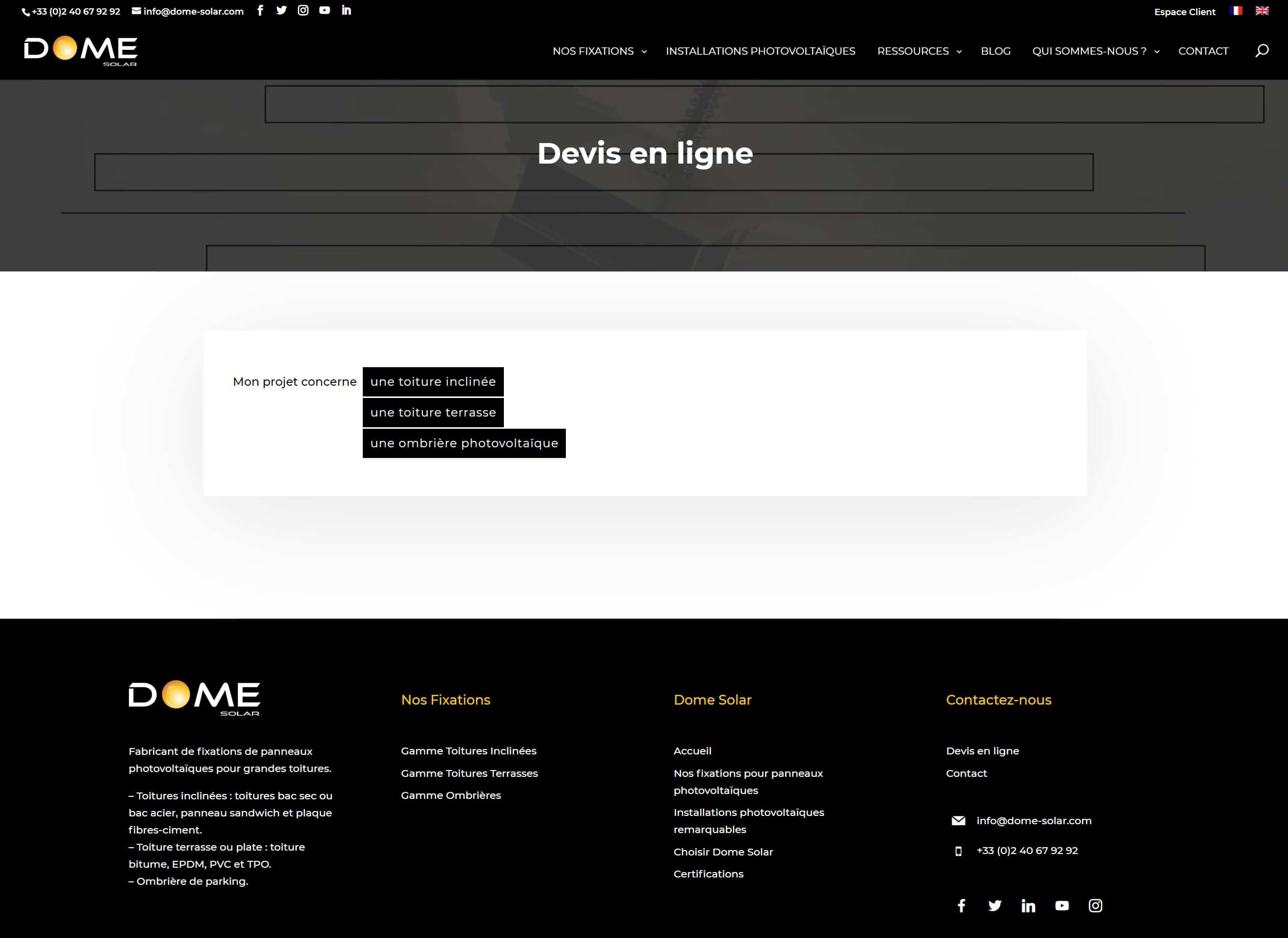 Dome Solar improves the functionality of its website