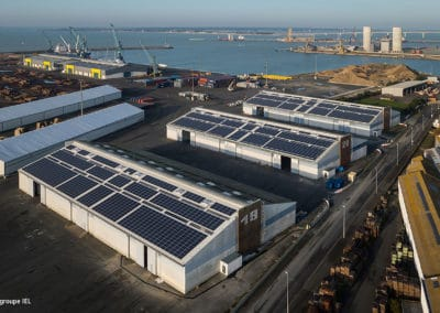 Our photovoltaic mountings at the port of La Rochelle