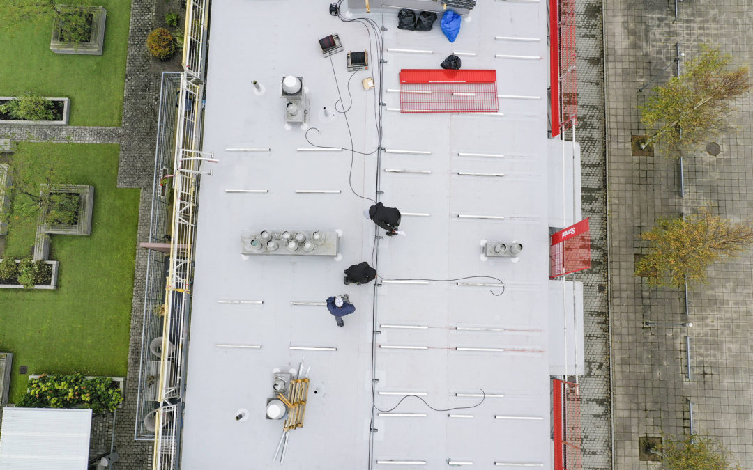 Our mountings on the roof of a residential building