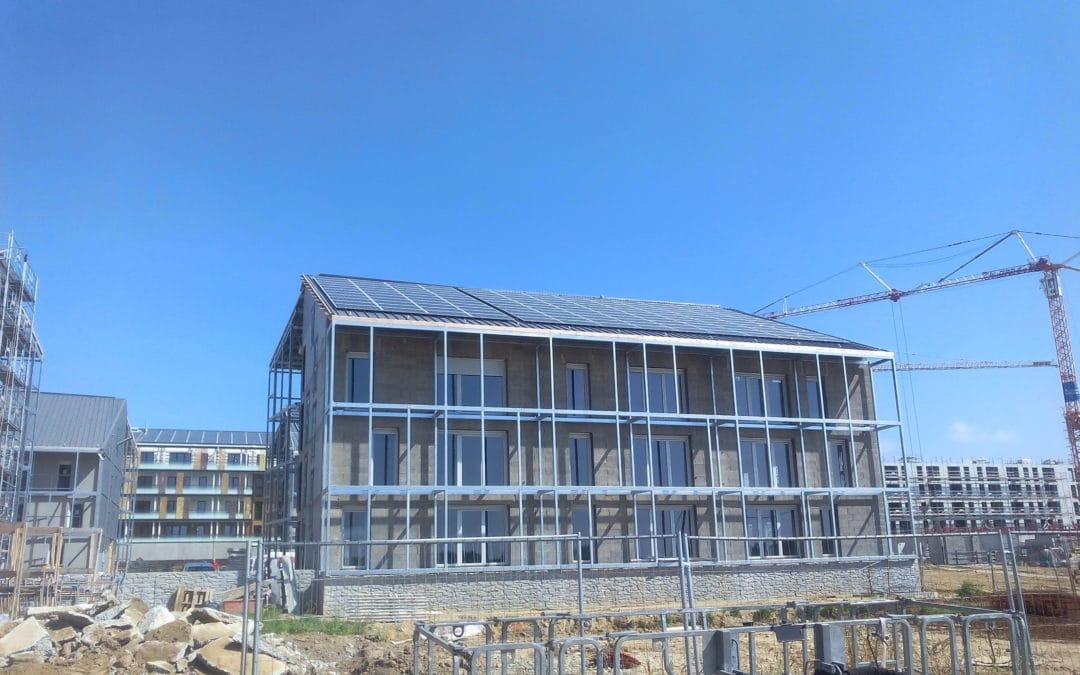 Photovoltaic roofs of La Fleuriaye eco-district