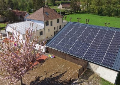 Four self-consumption photovoltaic roofs for municipal buildings