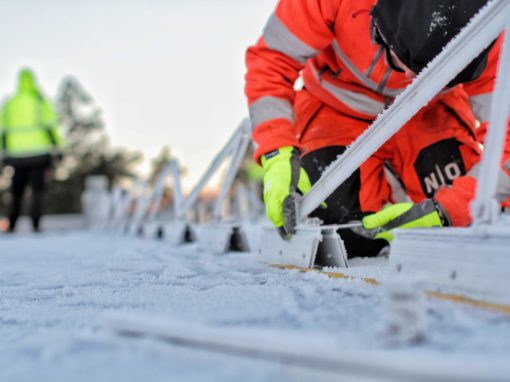 Mounting of photovoltaic solar panels in Sweden