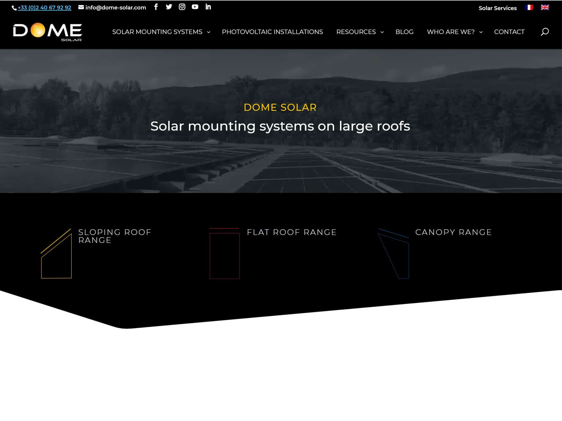 Launch of the new Dome Solar website