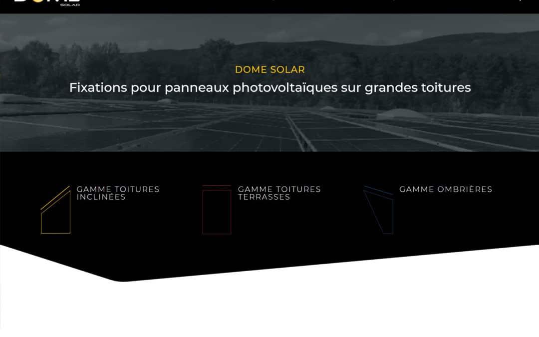 Lancement du nouveau site web de Dome Solar