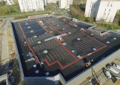 Our mountings on the roof of a supermarket in Oise