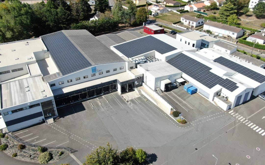 A regional depot for professional catering equips itself with photovoltaic panels