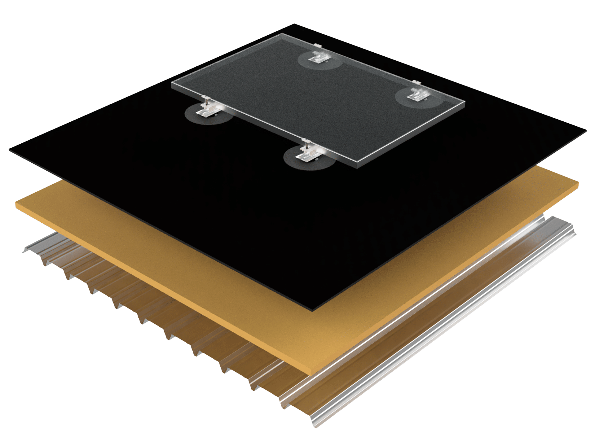 Flat-roof-EPDM-photovoltaic-mounting-system