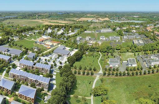 Toitures-des-batiments-ecoquartier-La-Fleuriaye
