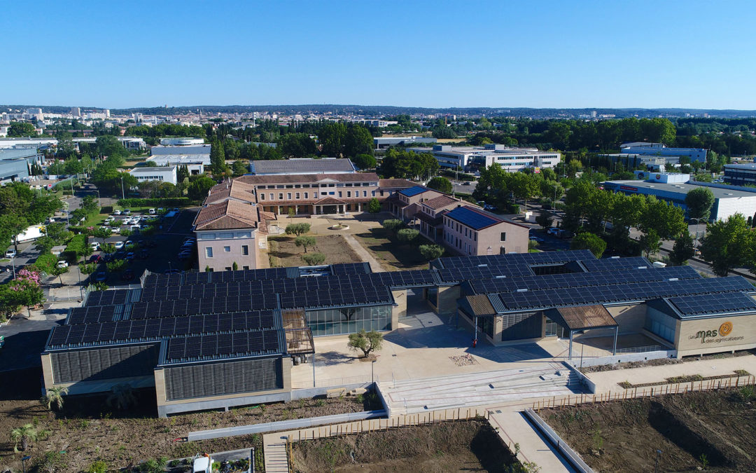 Three photovoltaic roofs for a Chamber of Agriculture