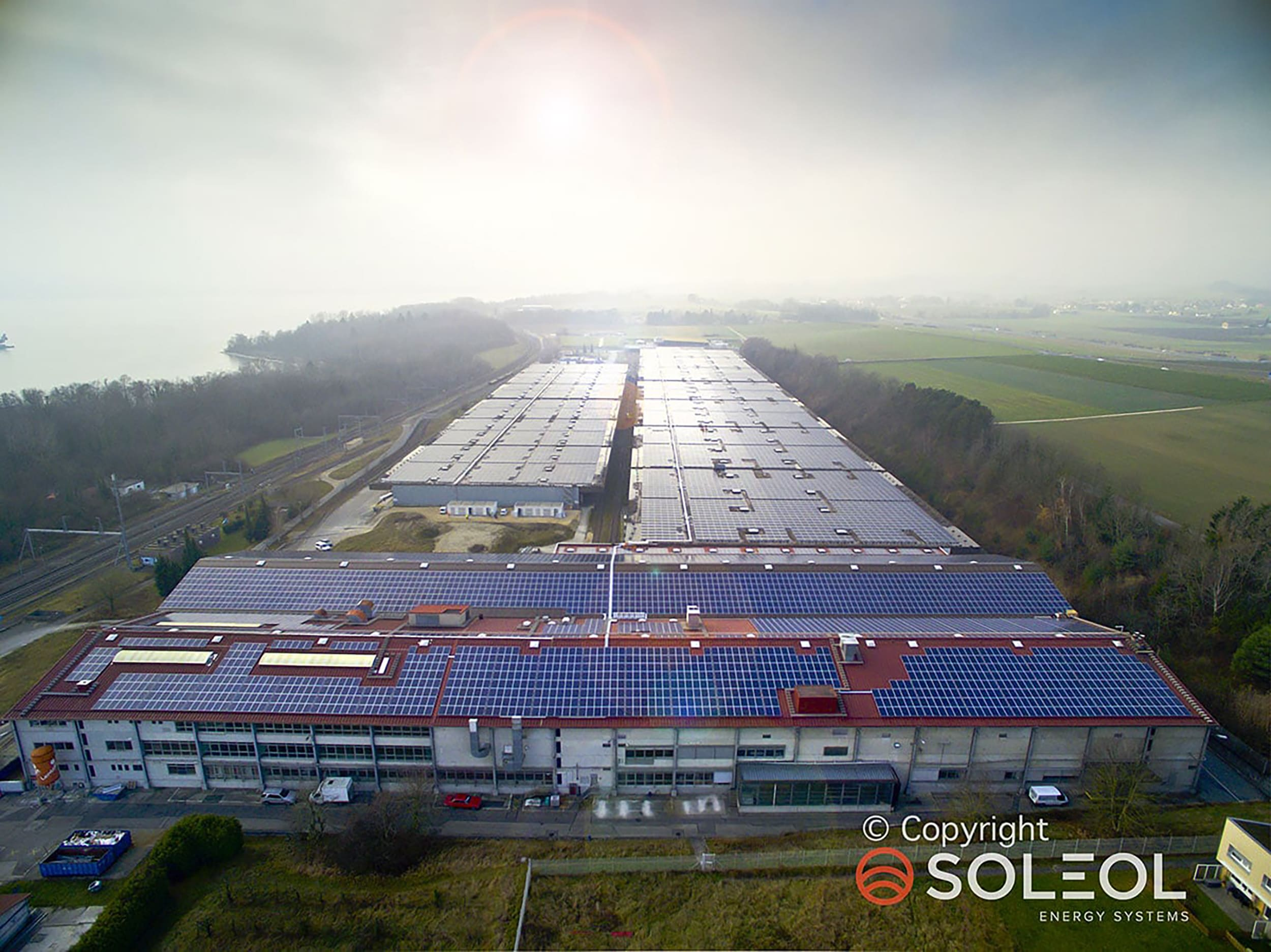Our mountings on one of the largest photovoltaic power plants in Switzerland