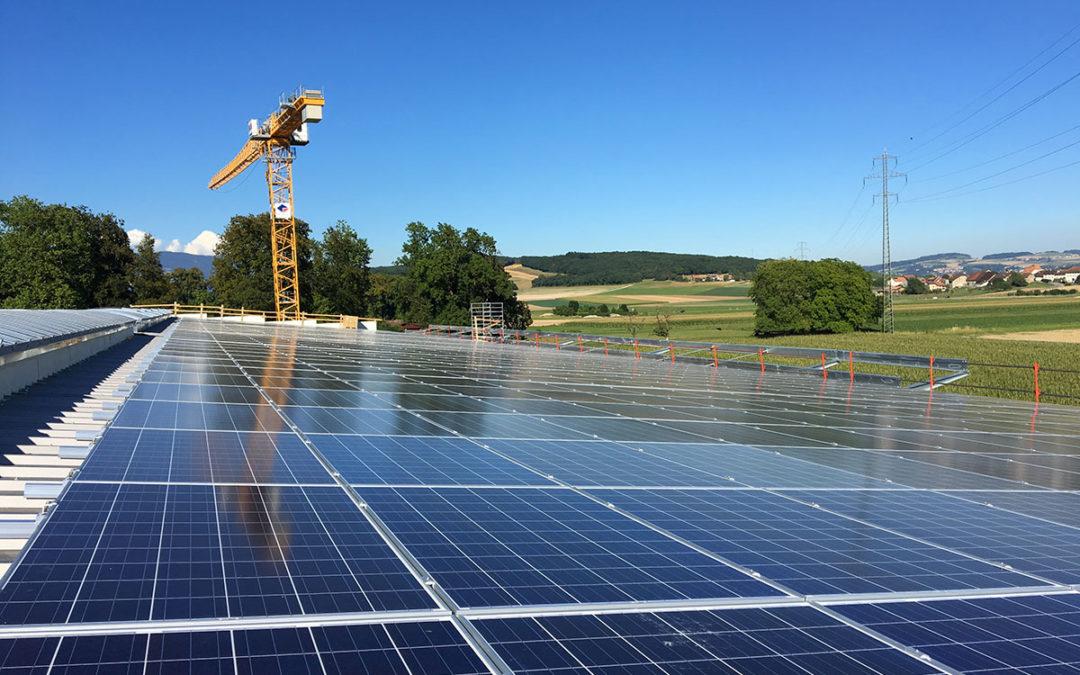 Nos fixations photovoltaïques à La Citadelle d'Etoy en Suisse
