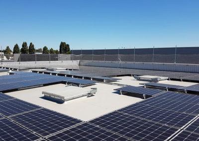 Toiture photovoltaïque d'un bâtiment industriel