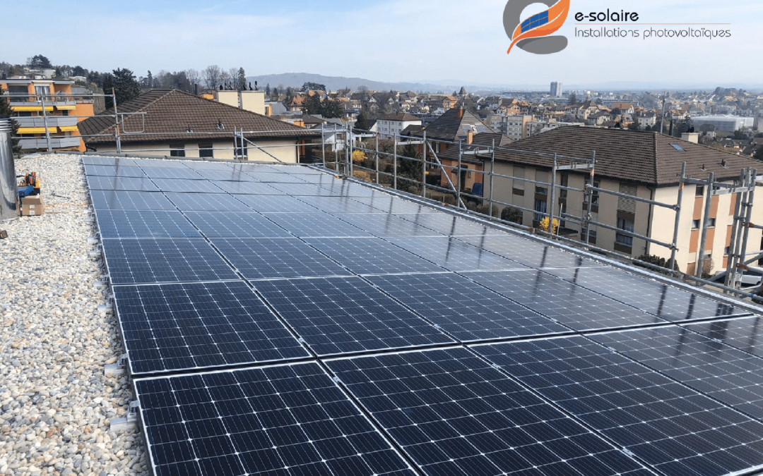 Our photovoltaic mountings on the roof of a Swiss house